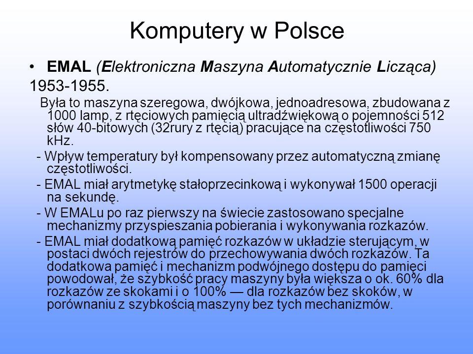 Komputery w Polsce EMAL (Elektroniczna Maszyna Automatycznie Licząca)