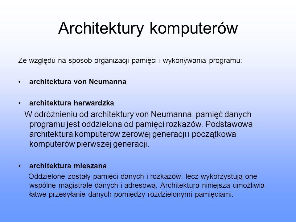 Architektury komputerów