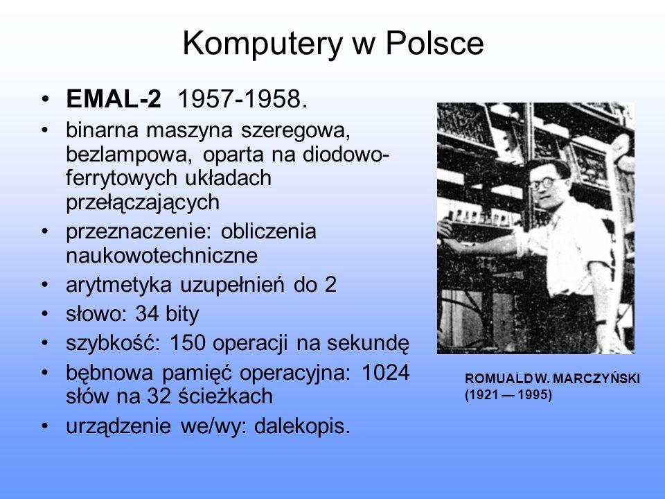 Komputery w Polsce EMAL-2 1957-1958.