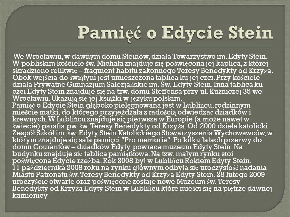 Pamięć o Edycie Stein