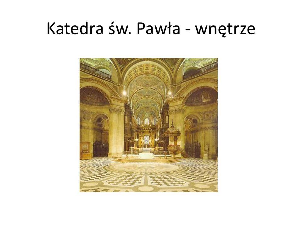 Katedra św. Pawła - wnętrze