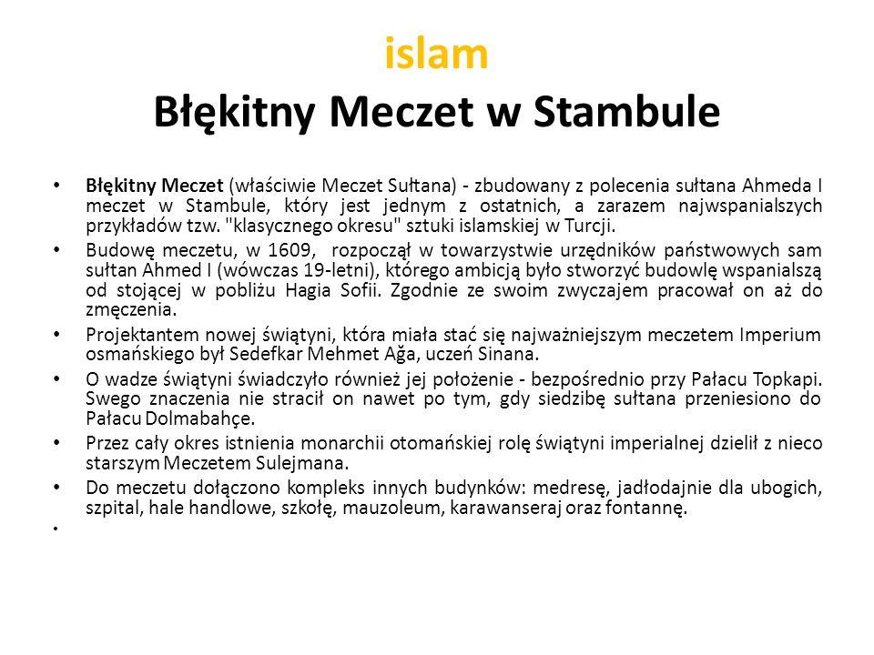 islam Błękitny Meczet w Stambule