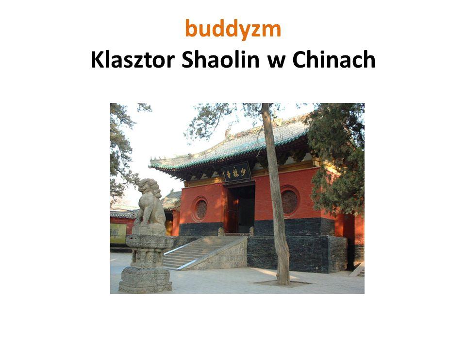 buddyzm Klasztor Shaolin w Chinach