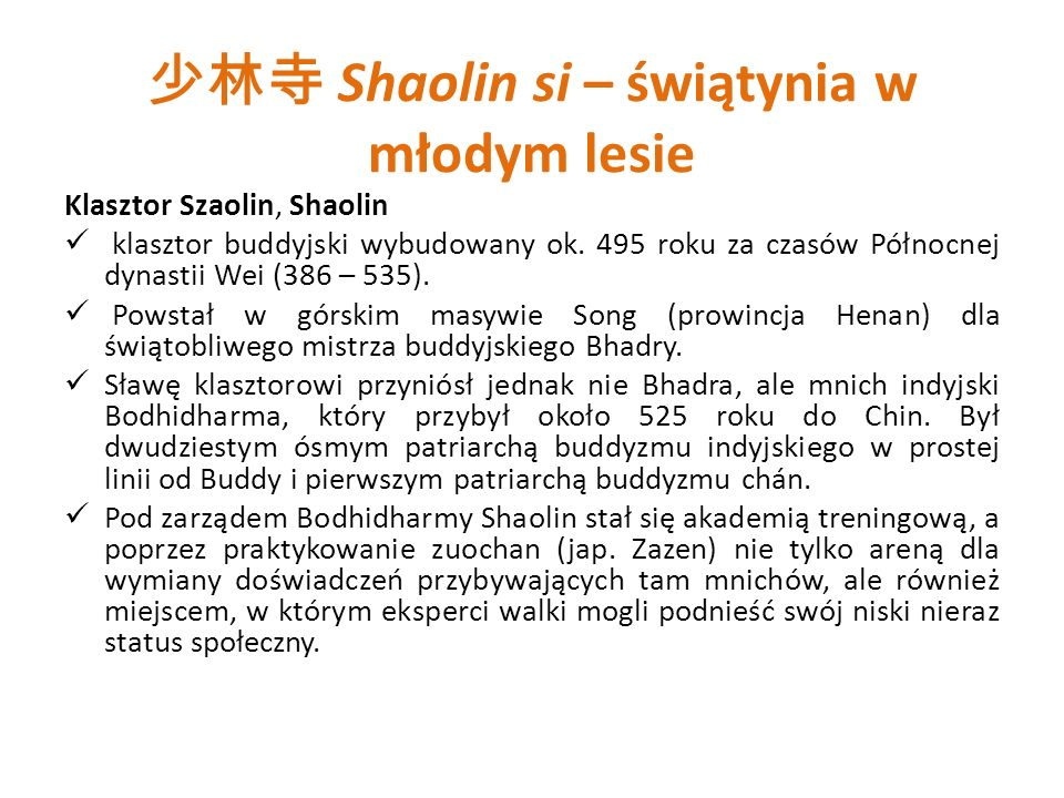 少林寺 Shaolin si – świątynia w młodym lesie