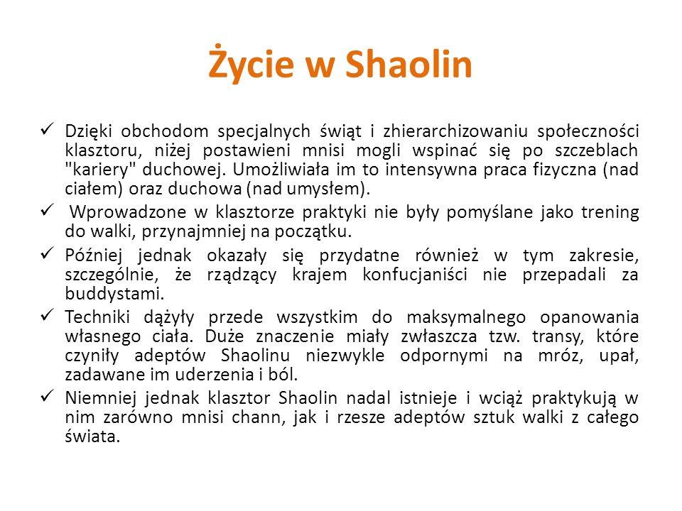 Życie w Shaolin