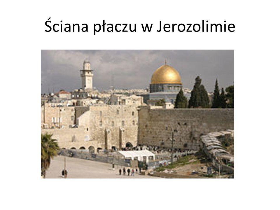 Ściana płaczu w Jerozolimie