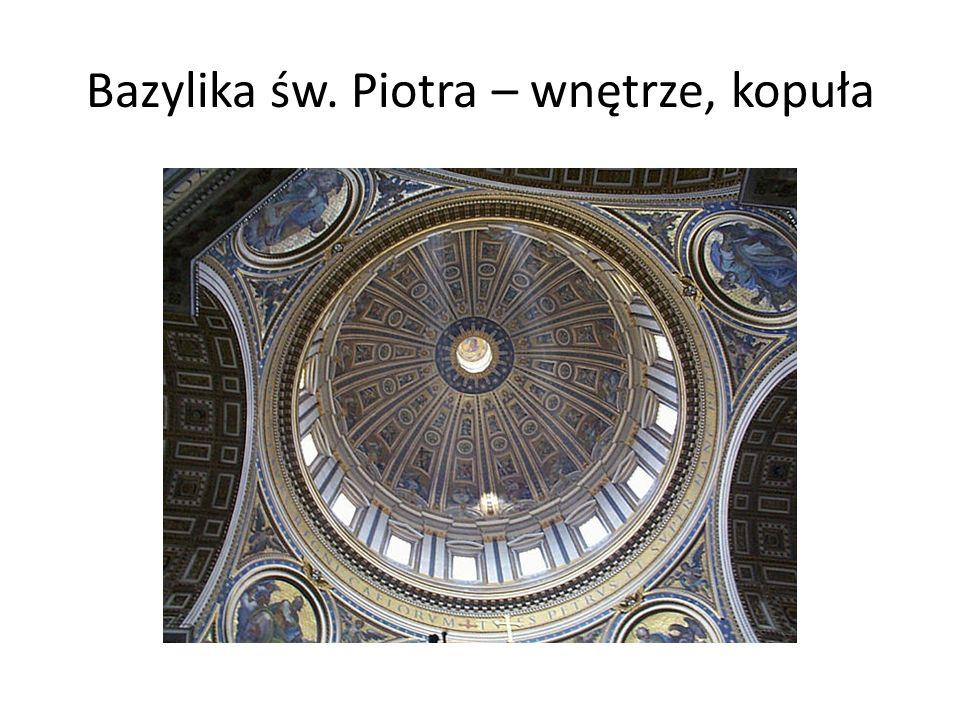 Bazylika św. Piotra – wnętrze, kopuła