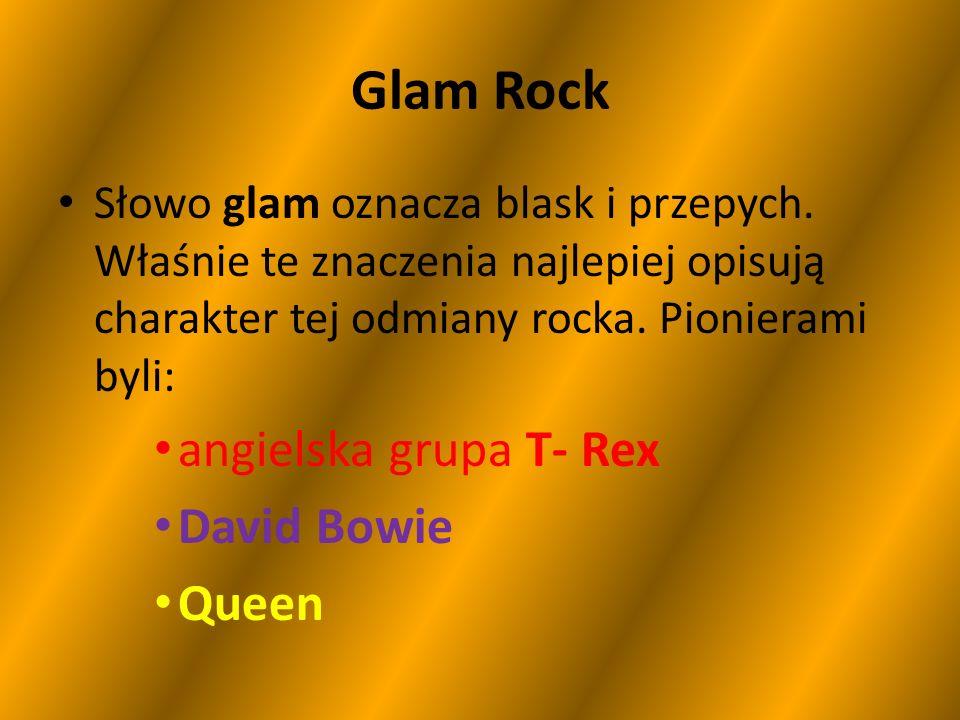 Glam Rock angielska grupa T- Rex David Bowie Queen