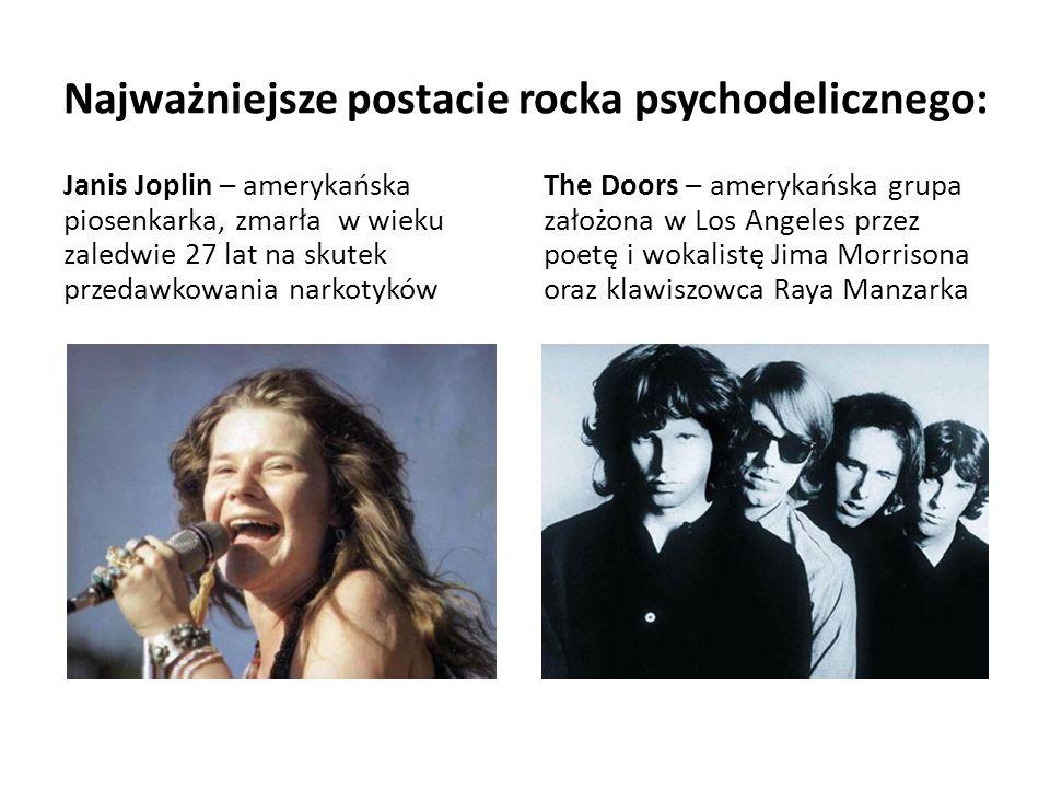 Najważniejsze postacie rocka psychodelicznego: