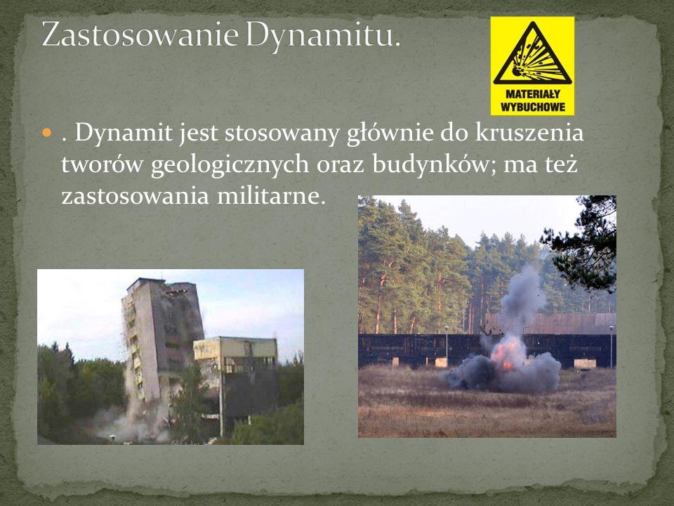 Zastosowanie Dynamitu.