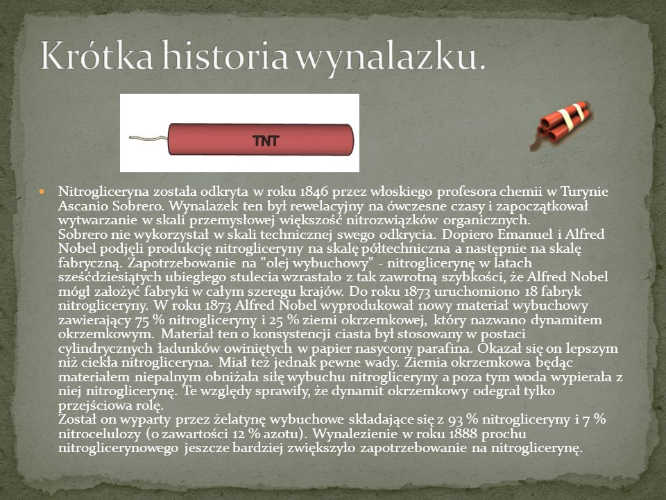 Krótka historia wynalazku.