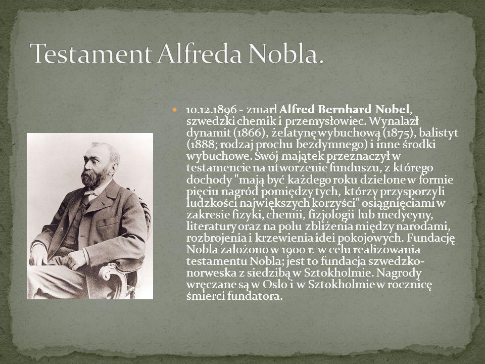 Testament Alfreda Nobla.