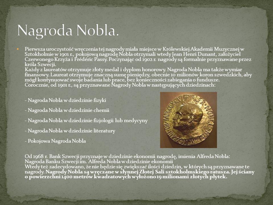 Nagroda Nobla.