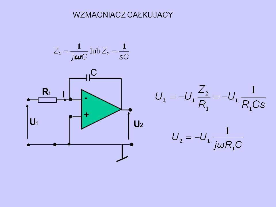 WZMACNIACZ CAŁKUJACY C - + U2 U1 R1 I II