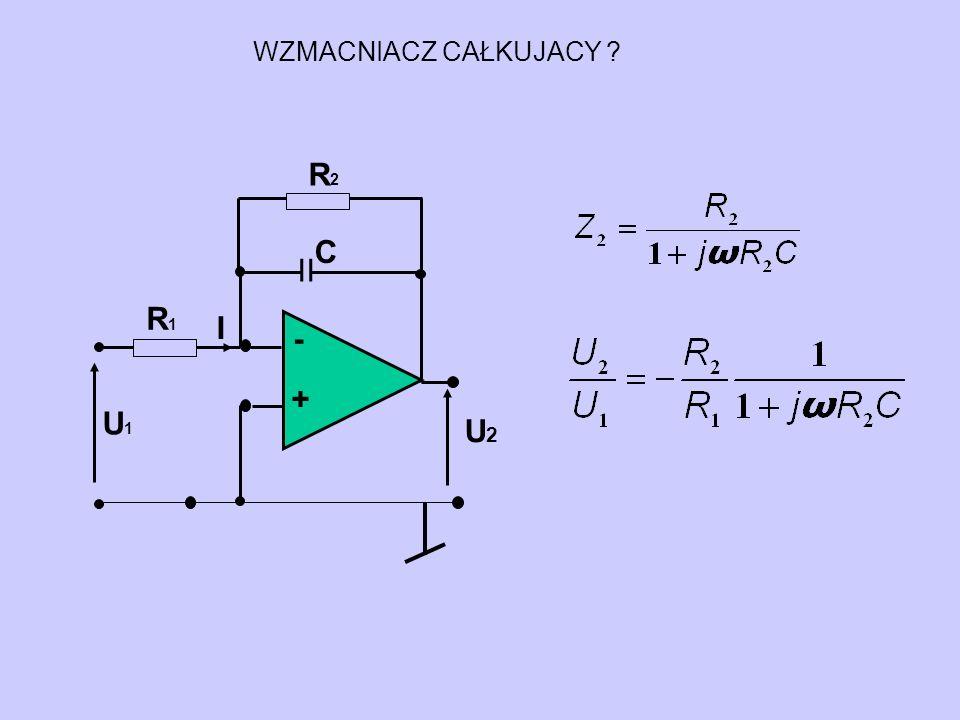 WZMACNIACZ CAŁKUJACY - + U2 U1 R1 I II C R2