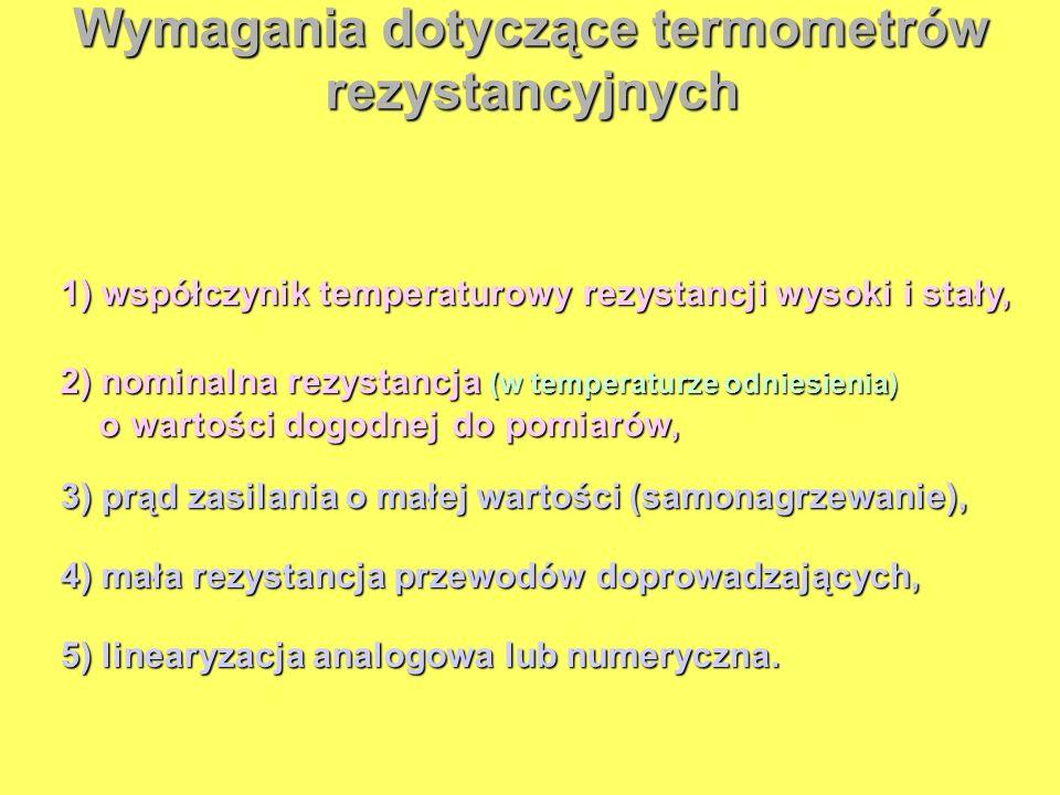 Wymagania dotyczące termometrów rezystancyjnych