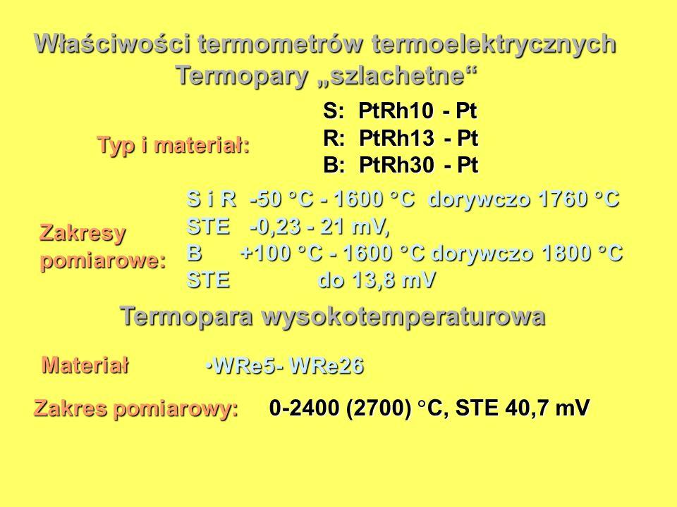 """Termopary """"szlachetne Termopara wysokotemperaturowa"""