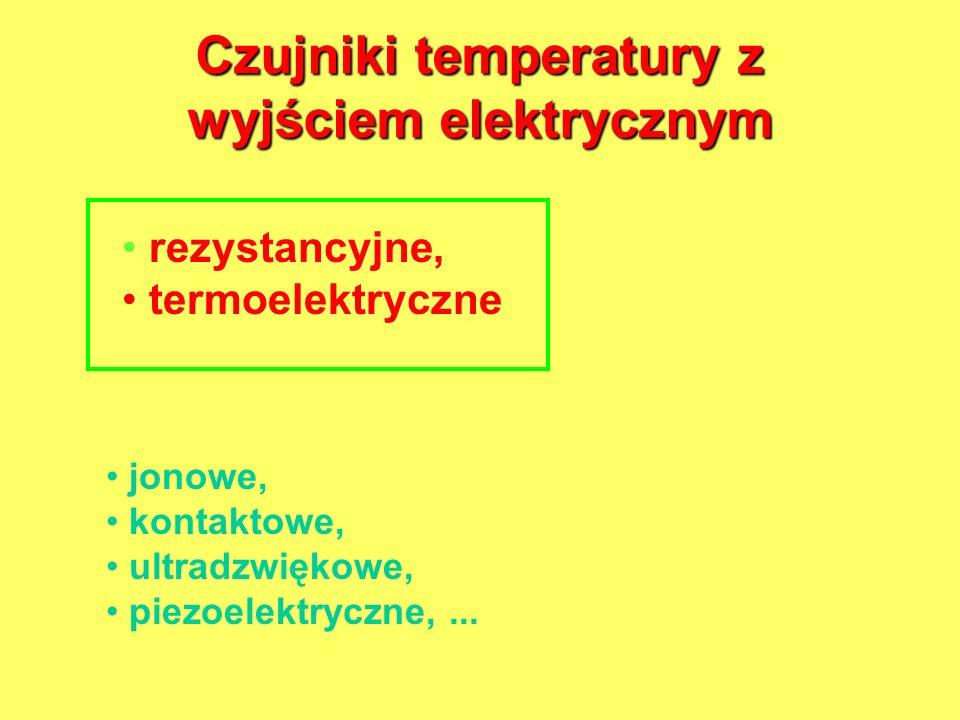 Czujniki temperatury z wyjściem elektrycznym