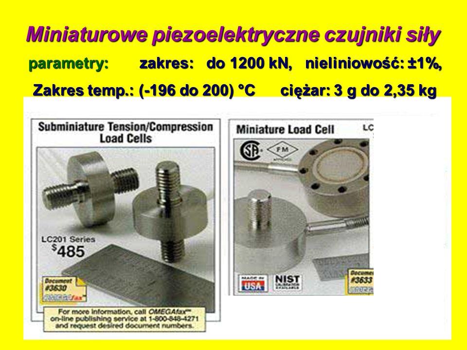 Miniaturowe piezoelektryczne czujniki siły