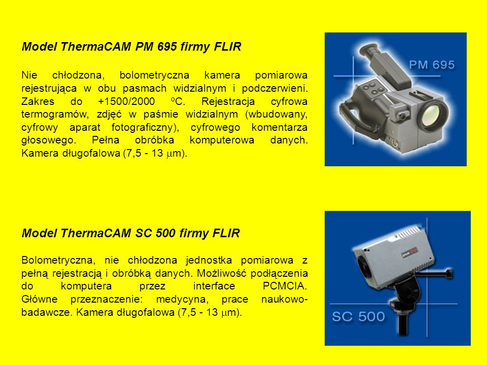 Model ThermaCAM PM 695 firmy FLIR