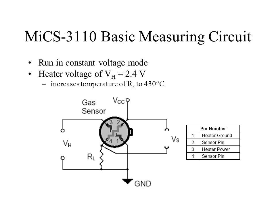 MiCS-3110 Basic Measuring Circuit