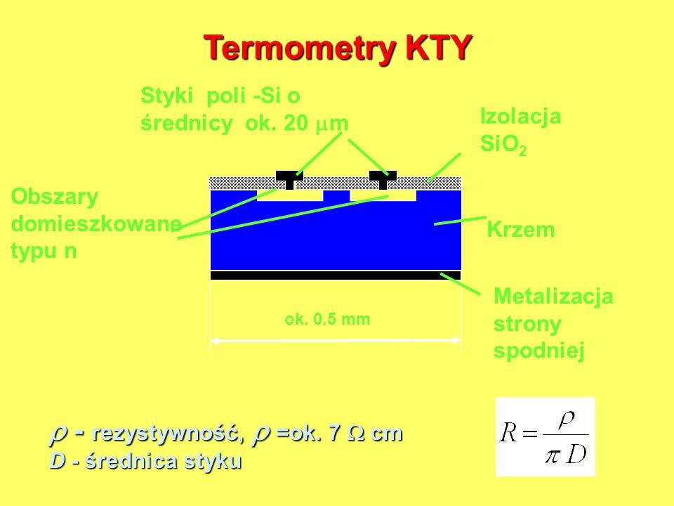 Termometry KTY  - rezystywność,  =ok. 7  cm