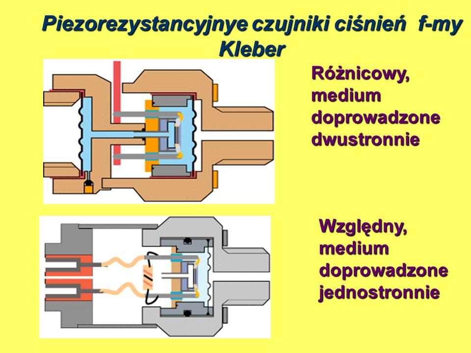 Piezorezystancyjnye czujniki ciśnień f-my Kleber