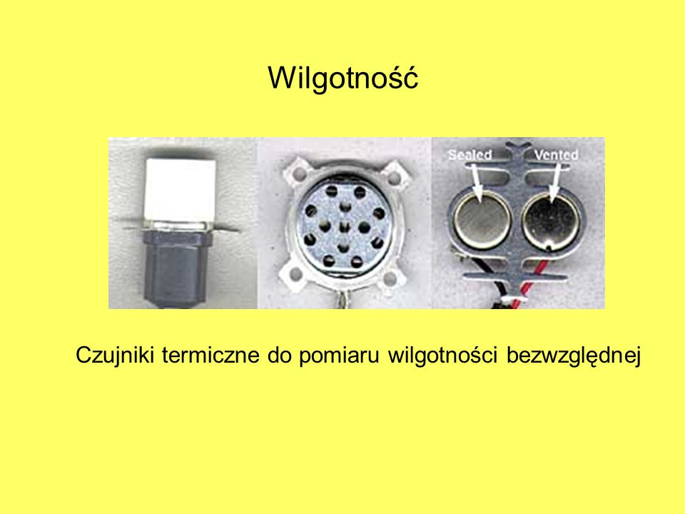 Wilgotność Czujniki termiczne do pomiaru wilgotności bezwzględnej