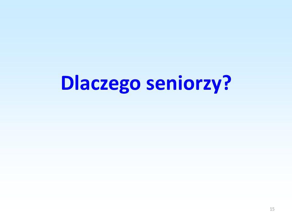 Dlaczego seniorzy