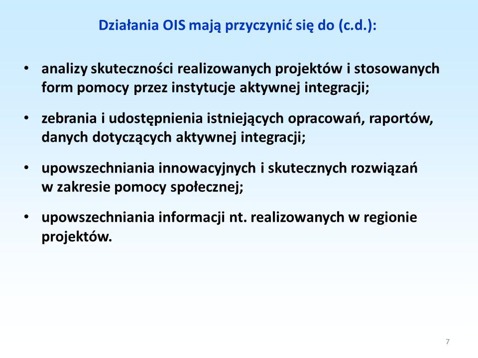 Działania OIS mają przyczynić się do (c.d.):