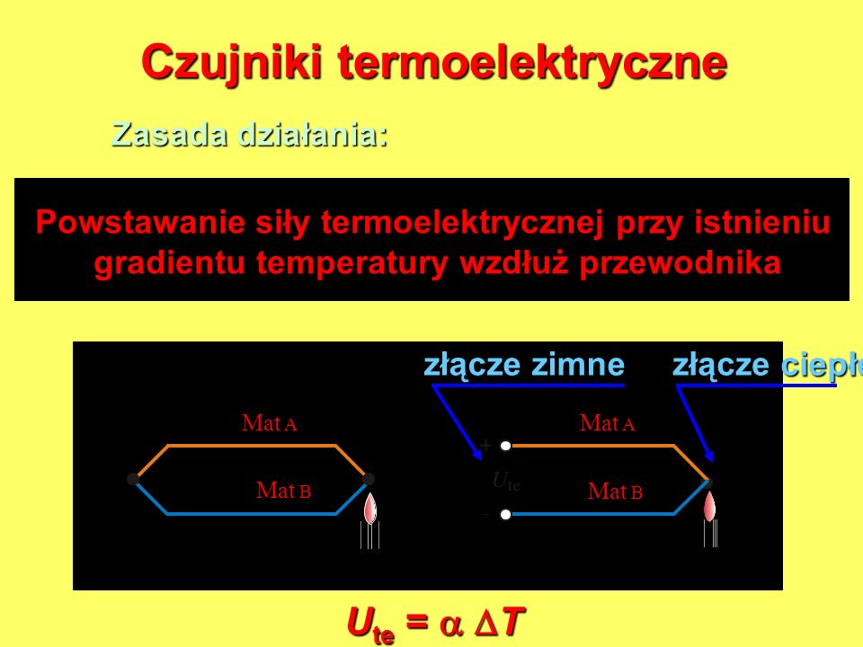 Czujniki termoelektryczne