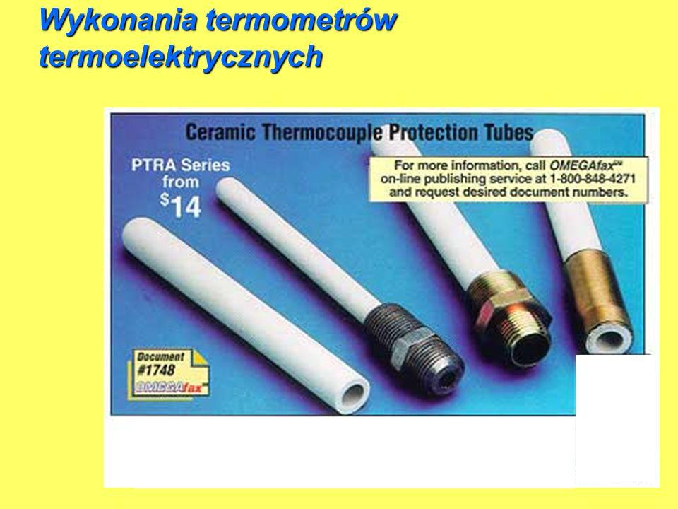 Wykonania termometrów termoelektrycznych