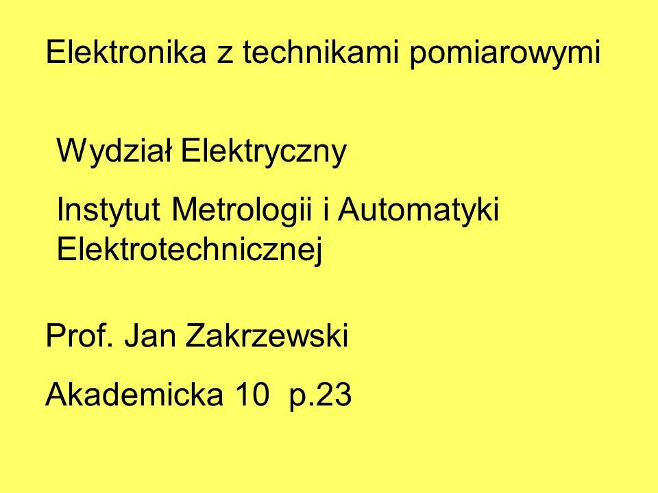 Elektronika z technikami pomiarowymi