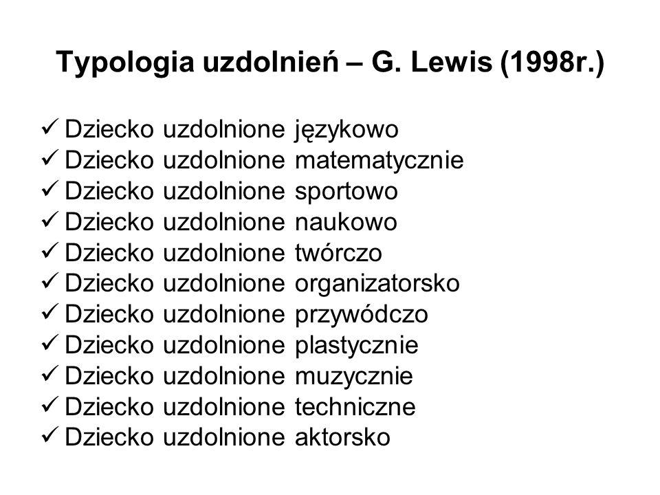Typologia uzdolnień – G. Lewis (1998r.)