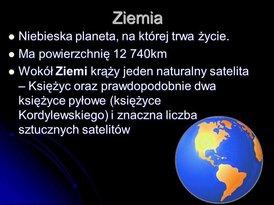 Ziemia Niebieska planeta, na której trwa życie.