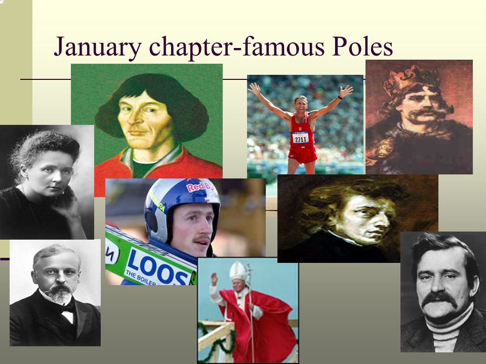 January chapter-famous Poles