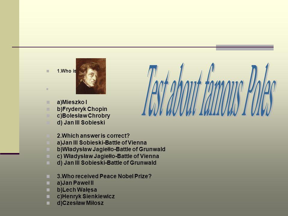 Test about famous Poles