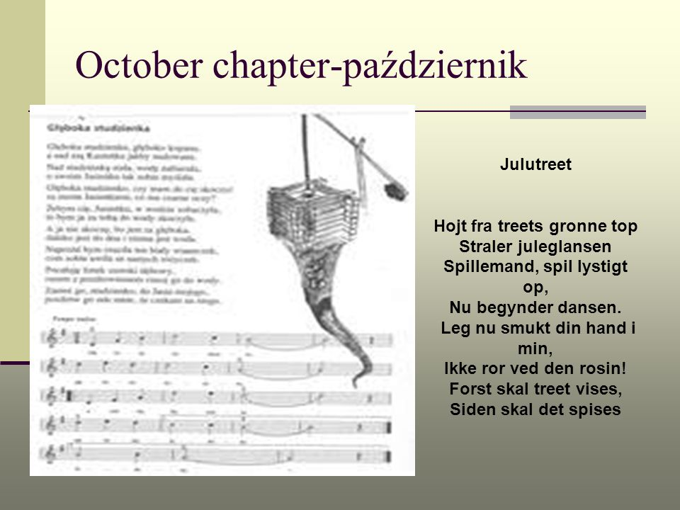 October chapter-październik