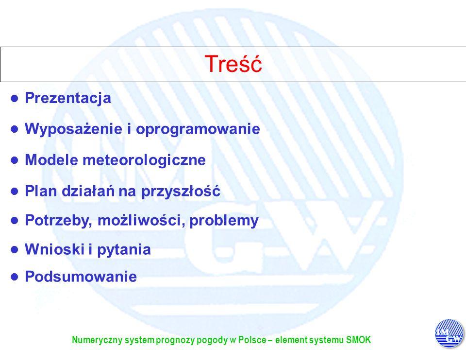 Treść Prezentacja Wyposażenie i oprogramowanie Modele meteorologiczne