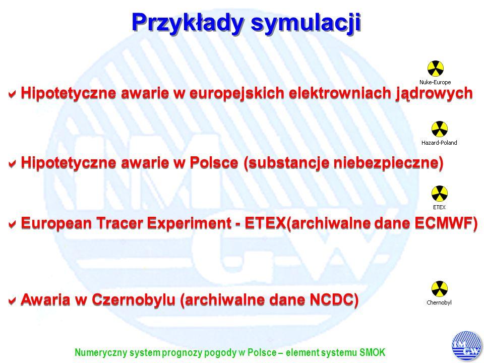 Przykłady symulacji Hipotetyczne awarie w europejskich elektrowniach jądrowych. Hipotetyczne awarie w Polsce (substancje niebezpieczne)