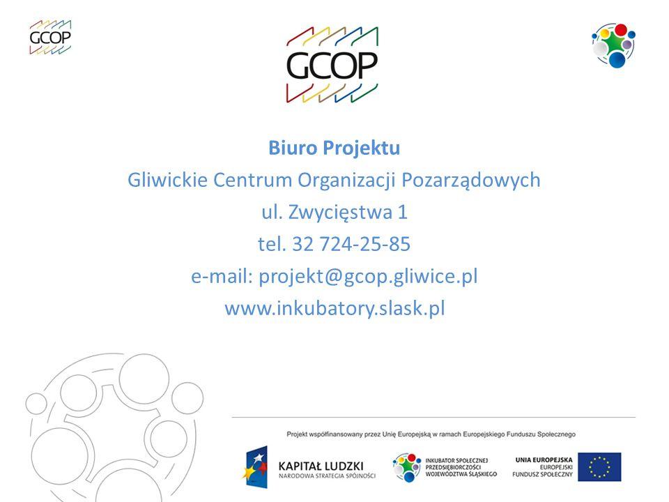 Biuro Projektu Gliwickie Centrum Organizacji Pozarządowych ul
