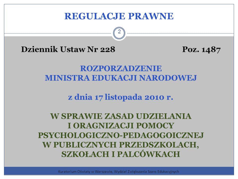 REGULACJE PRAWNE Dziennik Ustaw Nr 228 Poz. 1487 ROZPORZADZENIE