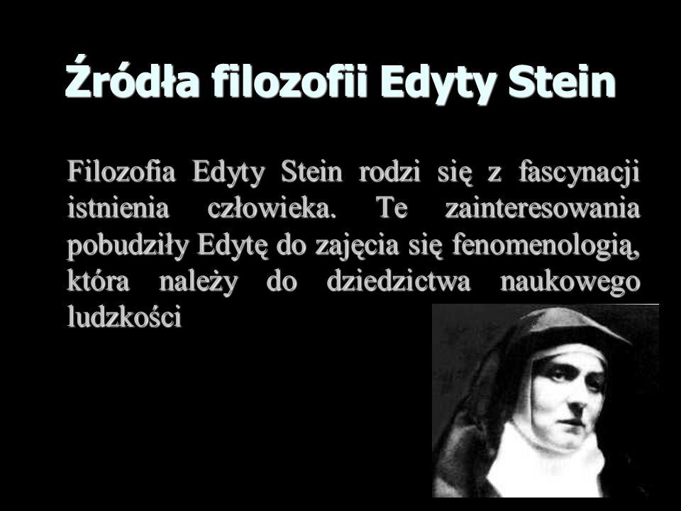 Źródła filozofii Edyty Stein