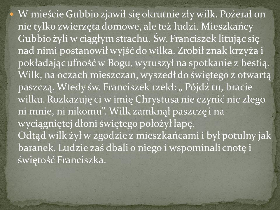 W mieście Gubbio zjawił się okrutnie zły wilk