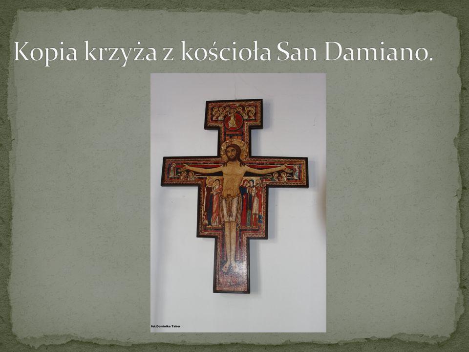 Kopia krzyża z kościoła San Damiano.