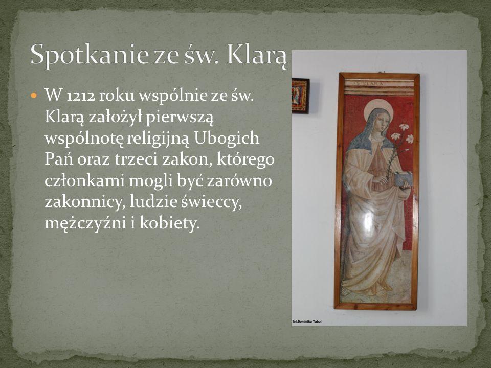 Spotkanie ze św. Klarą