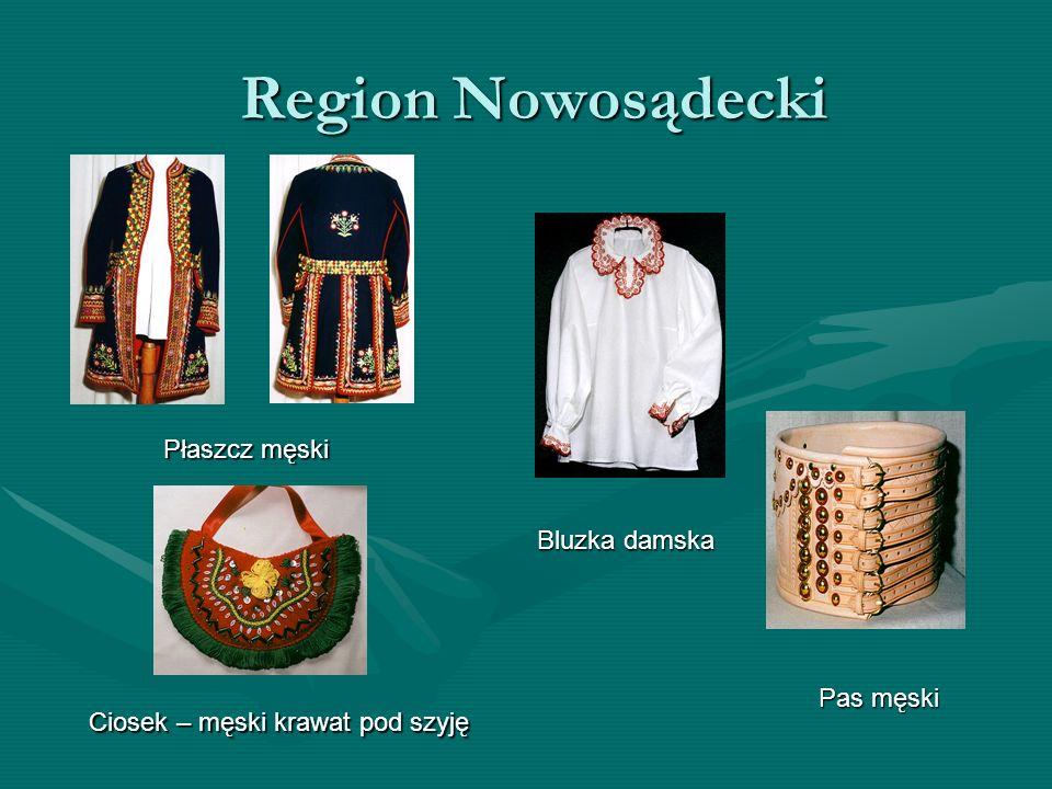 Region Nowosądecki Płaszcz męski Bluzka damska Pas męski