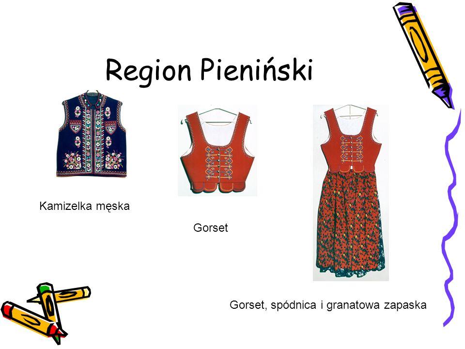 Region Pieniński Kamizelka męska Gorset