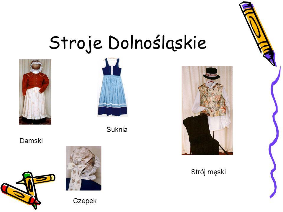 Stroje Dolnośląskie Suknia Damski Strój męski Czepek