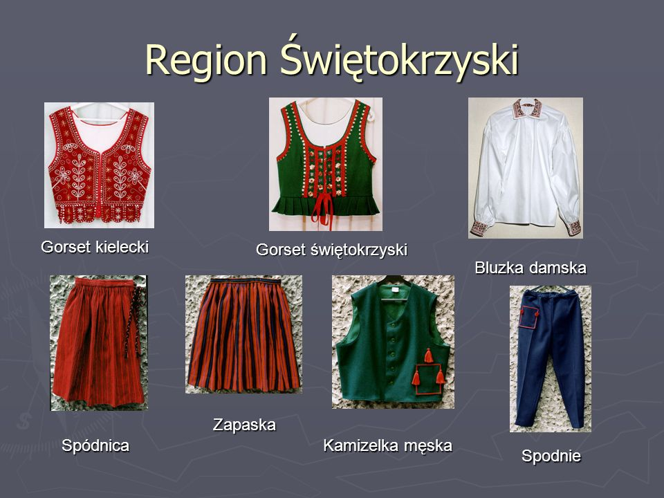 Region Świętokrzyski Gorset kielecki Gorset świętokrzyski